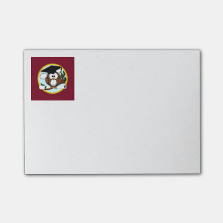 Graduation Owl With Cap & Diploma - Red and Gold Post-it® Notes