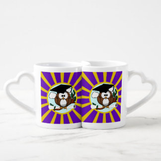 Graduation Owl With Purple And Gold School Colors Lovers Mug