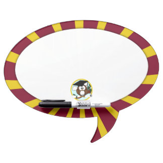 Graduation Owl With Red And Gold School Colors Dry-Erase Whiteboard