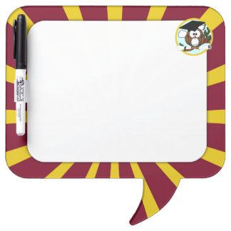 Graduation Owl With Red And Gold School Colors Dry Erase Boards