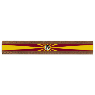Graduation Owl With Red And Gold School Colors Walnut Ruler