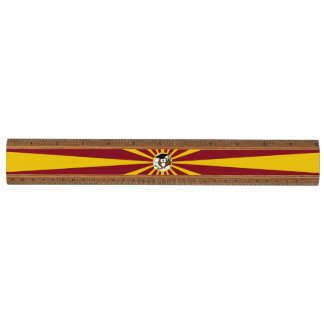 Graduation Owl With Red And Gold School Colors Cherry Ruler