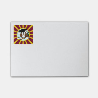 Graduation Owl With Red And Gold School Colors Post-it® Notes