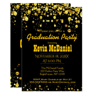 Graduation Party | Black and Gold Card