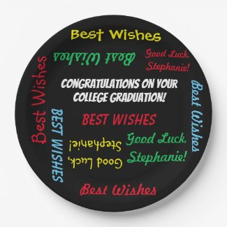Graduation Party Colorful FUN Paper Plate
