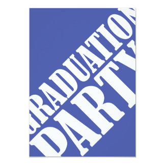 Graduation Party Invitation - blue