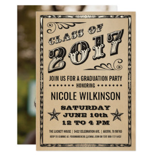 Graduation Party Invitation Class of 2017   Photo