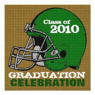 Graduation Party Invitation Football 4 Green
