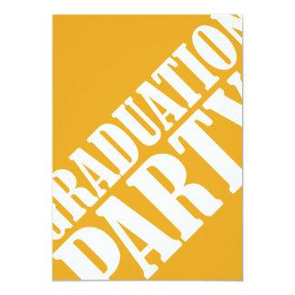 Graduation Party Invitation - orange