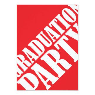 Graduation Party Invitation - red