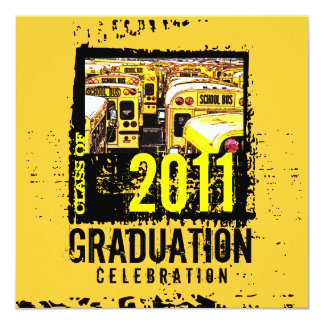 Graduation Party Invitation School Bus 9