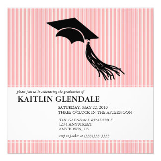 Graduation Party Invitation with Cap and Tassel