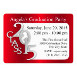 Graduation Party Photo Insert Card Red