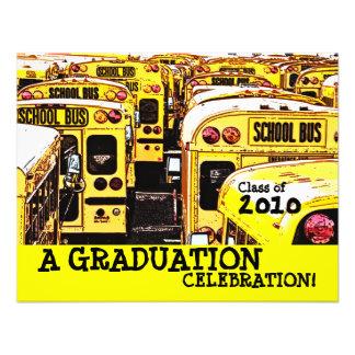 Graduation Party School Bus Yellow Invitation