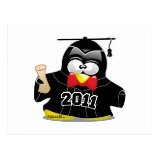 Graduation Penguin 2011 Postcard