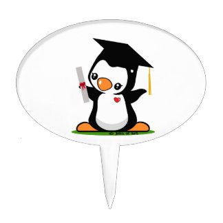 Graduation Penguin Cake Topper
