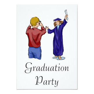 Graduation Photography 13 Cm X 18 Cm Invitation Card