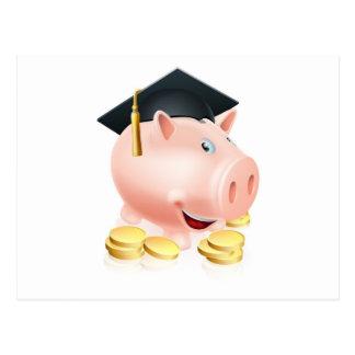 Graduation Piggy bank Postcards