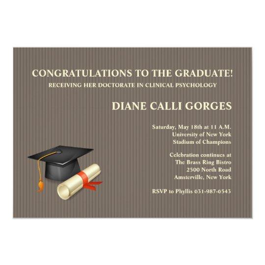 Graduation Pin Stripe Invitation
