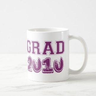 Graduation purple class year 2010 custom photo basic white mug