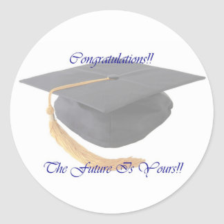 Graduation Round Sticker