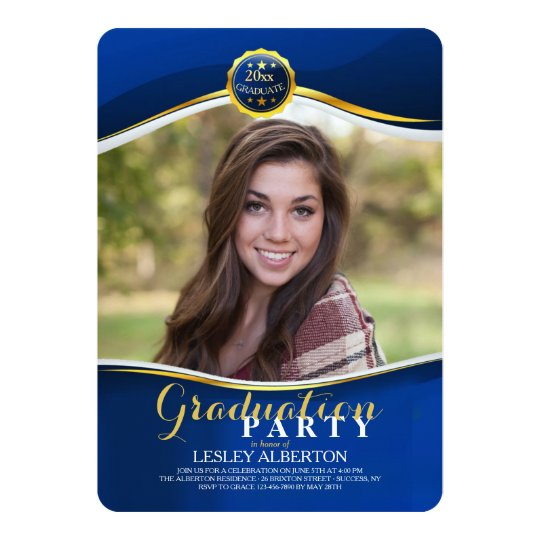 Graduation Royal Photo Invitation