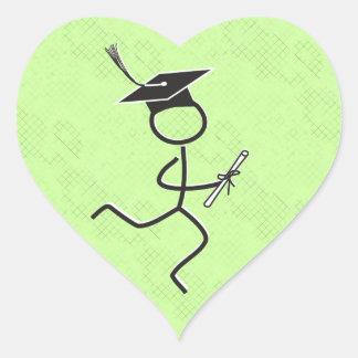 Graduation Runner Heart Sticker