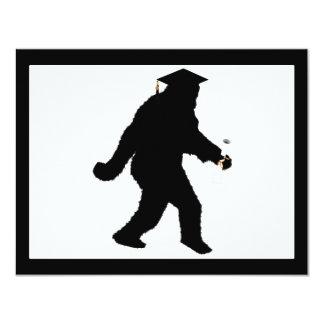 Graduation Sasquatch with Grad Cap Card