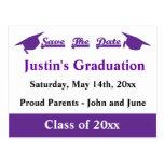 Graduation Save The Date Purple