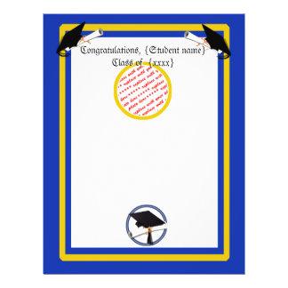 Graduation School Colors Blue And Gold 21.5 Cm X 28 Cm Flyer