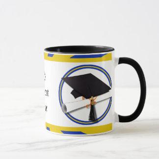 Graduation School Colors Blue And Gold (ZOOM!) Mug