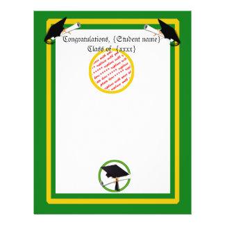 Graduation School Colors Gold & Green 21.5 Cm X 28 Cm Flyer
