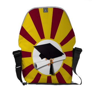 Graduation School Colors Red And Gold (ZOOM!) Courier Bag