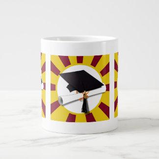 Graduation School Colors Red And Gold (ZOOM!) Jumbo Mug