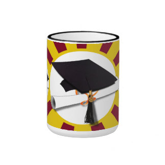 Graduation School Colors Red And Gold (ZOOM!) Ringer Mug