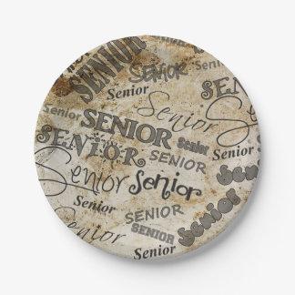 Graduation Seniors Paper Plate