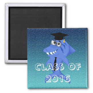 Graduation shark, A unique and funny Square Magnet