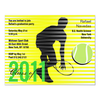 Graduation Sport Party Invitation Tennis