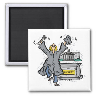 Graduation Square Magnet