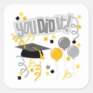Graduation Square Sticker
