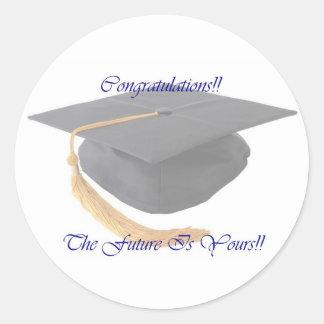 Graduation Round Sticker