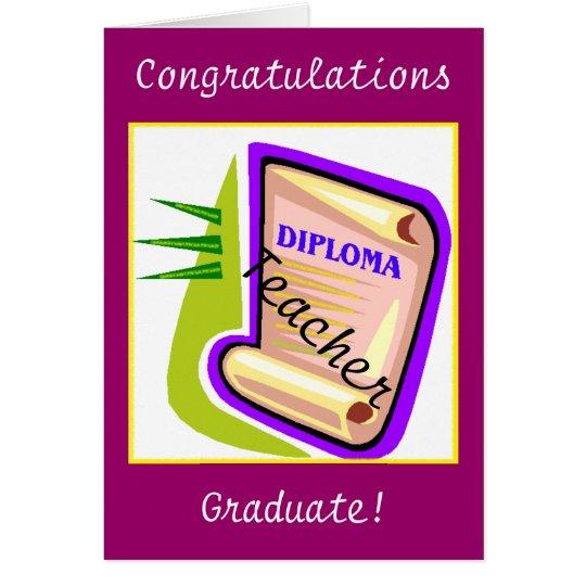 Graduation - Teacher Card