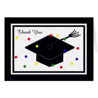 Graduation Thank You Card -- Graduation Cap