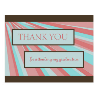 Graduation Thank You III Postcard