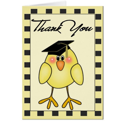 Graduation Thank You Note Greeting Cards