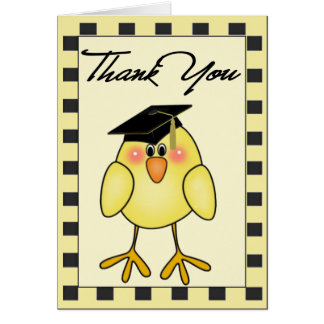 Graduation Thank You Note Greeting Card