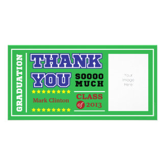 Graduation Thank You Personalized Photo Card