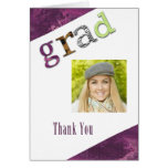 Graduation Thank You Photo Card Note Card