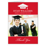 Graduation Thank You Photo Cards | Red and White