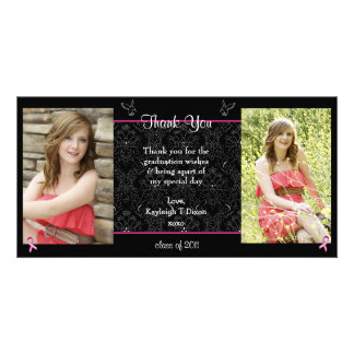 graduation thank you picture card